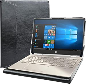 "Alapmk Protective Case for 14"" HP Pavilion x360 14m-dwXXXX/HP Pro c640 Chromebook/HP Chromebook 14a-naXXXX/HP Chromebook x360 14c-caXXXX & Dell Inspiron 14 2-in-1 5400 7405 Laptop,Black"
