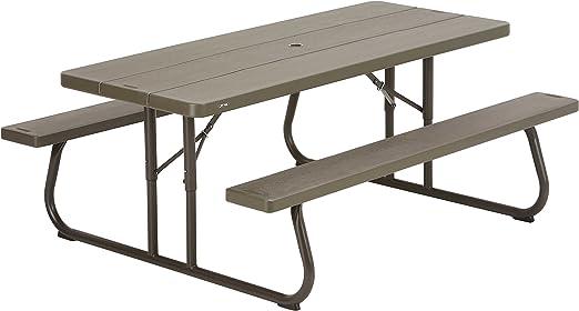 Lifetime Picnic de mesa para 6 – 8 personas 185 x 77 cm: Amazon.es ...