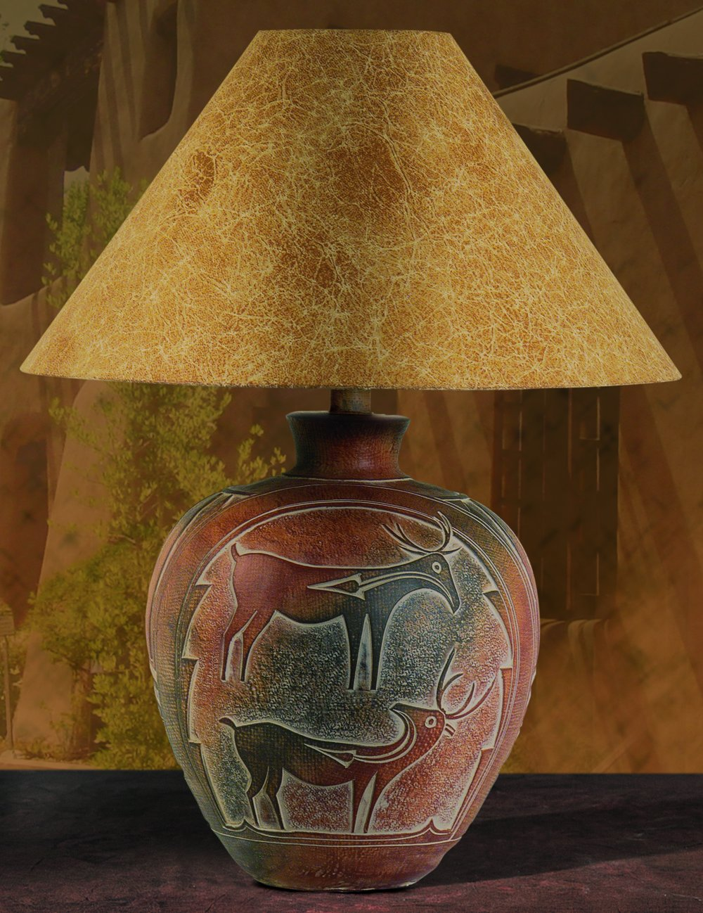Indian deer southwest table lamp amazon geotapseo Gallery