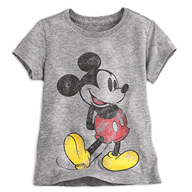 cb36fd8b50a8b Amazon.com: Disney Mickey Mouse Classic Heathered Tee for Girls Gray ...
