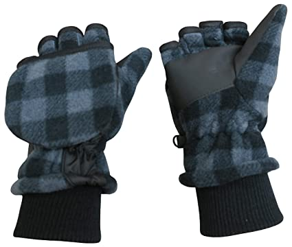 cc957ea4de3 Amazon.com  N Ice Caps Kids Thinsulate Lined Winter Converter Fingerless  Glove To Mitten  Clothing