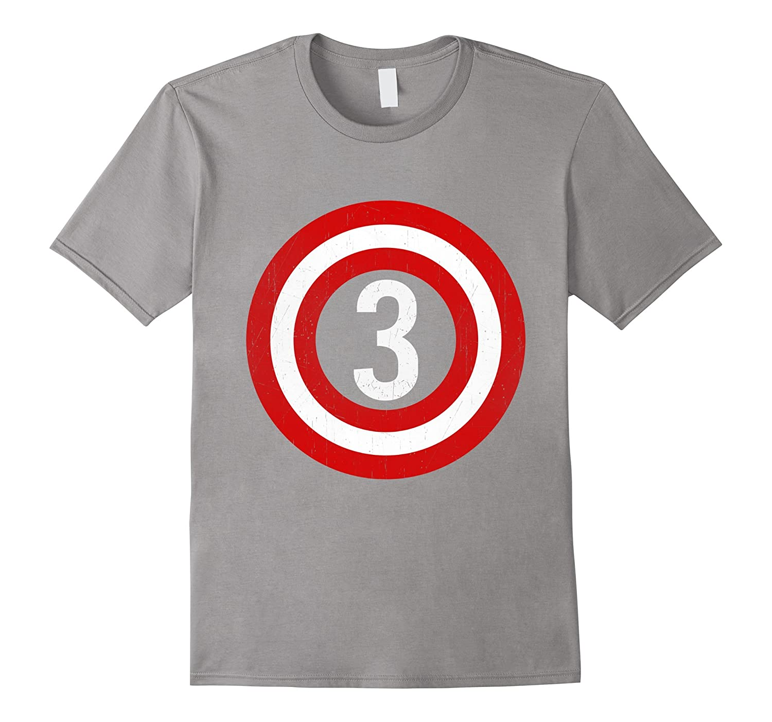 Captain 3rd Birthday Tshirt Gift 3 Years Old Toddler Kids CL