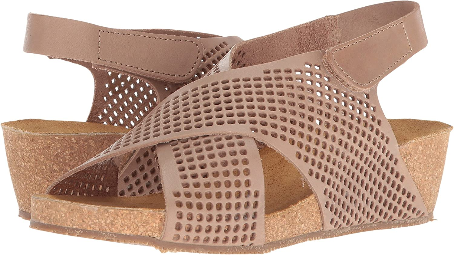 Eric Michael Womens August Wedge Sandal B076BR7MMY 40 M EU|Taupe