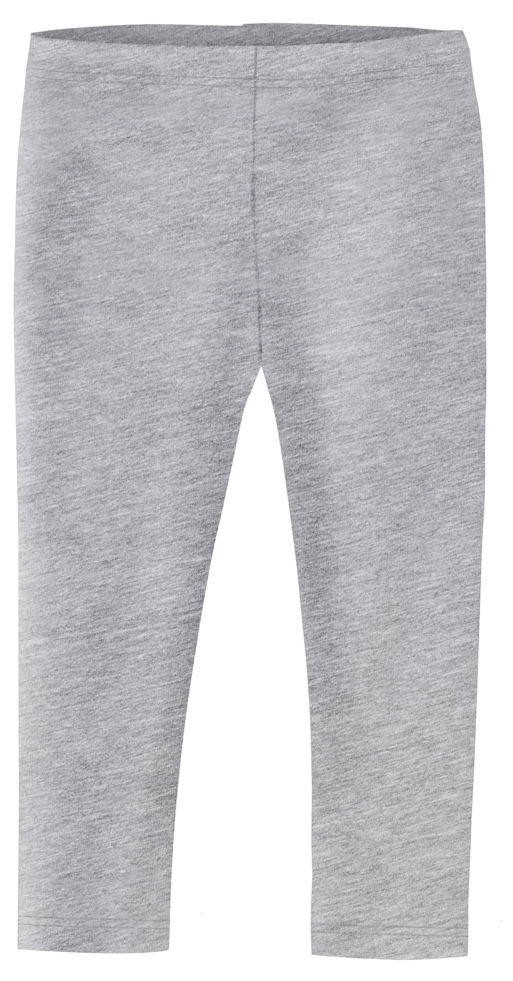 Big Girls' Cotton/Poly (90/10) Cropped Capri Legging For Summer, Play and School, Heather Gray, 16