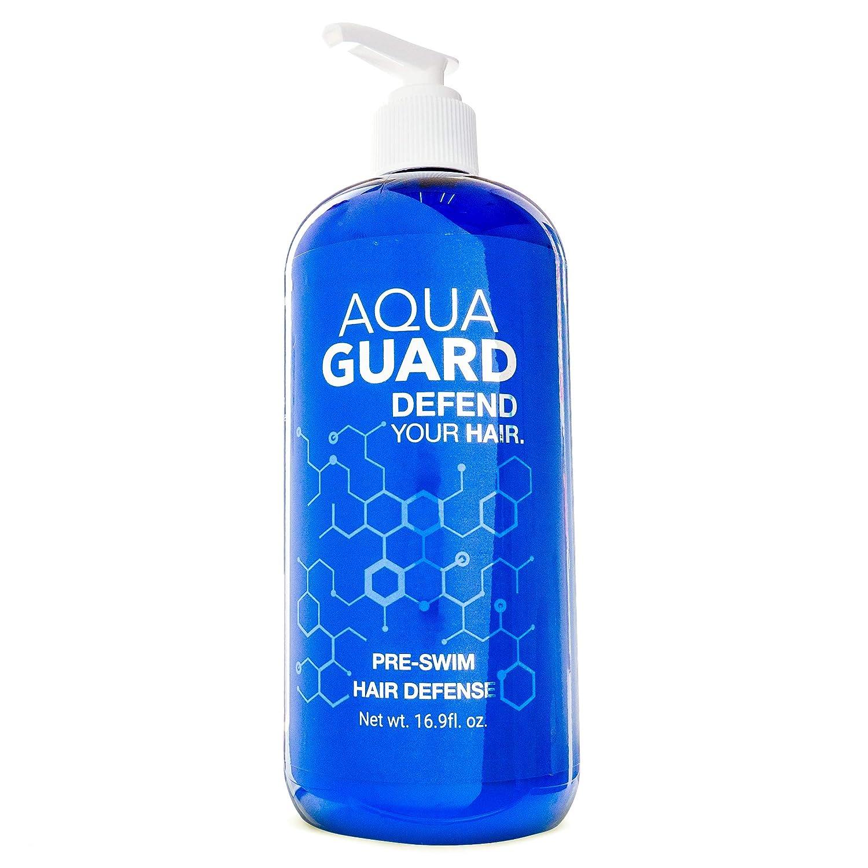 AquaGuard Pre-Swim Hair Defense | Prevents Chlorine Damage, Paraben and Gluten Free, Vegan, Color Safe, Reef Safe, Leaping Bunny Certified | Pump Bottle (16.9 oz)