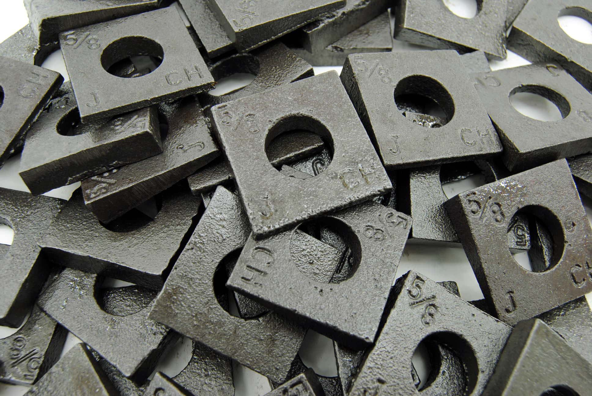(50) Malleable 5/8 Square Bevel Washers I-Beam Flange Wedge by Lexar Industrial