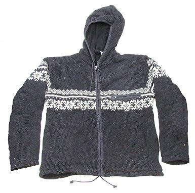 Shangri-La Nook 100% Wool Jacket With Fleece Lining Handmade Nepal ...