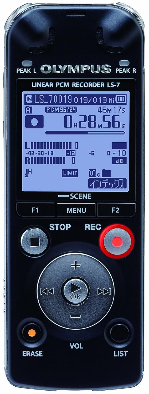 OLYMPUS ICレコーダー Voice-Trek 4GB リニアPCM対応 BLK ブラック LS-7  ブラック B004Q3QG78