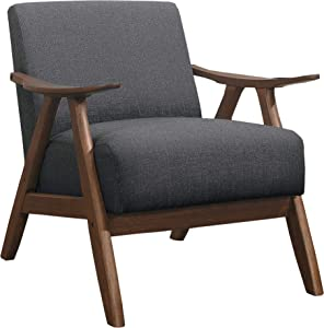Lexicon Elle Fabric Accent Chair, Gray