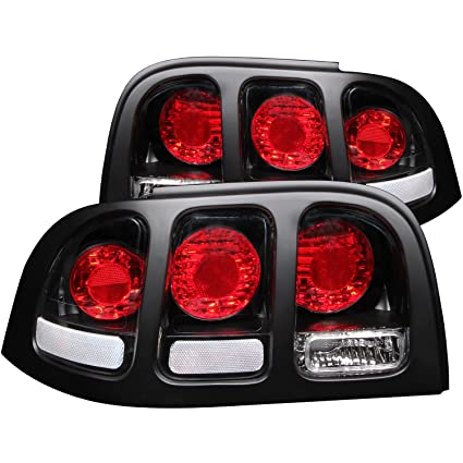 Amazon.com: Anzo USA 221020 Ford Mustang Black Tail Light Assembly - (Sold in Pairs): Automotive