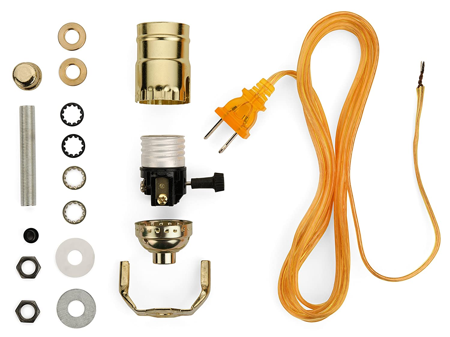 Lamp Base Socket Kit Electrical Wiring Set For Making Repairing Antique And Repurposing Lamps