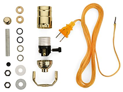 Lamp base socket kit electrical wiring set to make repair and lamp base socket kit electrical wiring set to make repair and repurpose lamps keyboard keysfo Images