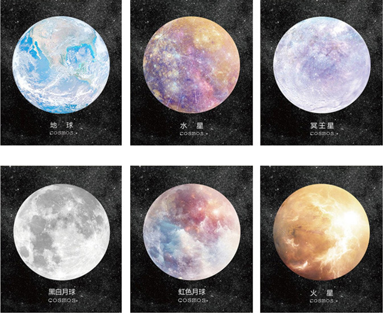 Office & School Supplies Cute Space Planet Decoration Memo Pad Kawaii Stationery Paper Sticky Post It Note For Student Novelty Gift Office School Supply Memo Pads