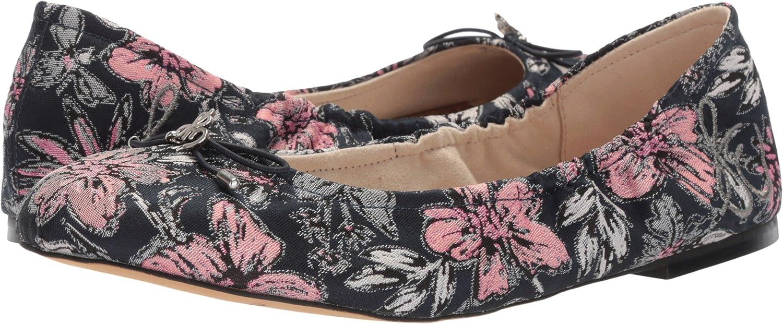 Sam Edelman Women's Felicia Ballet Flat B07611BQHV 7 C/D US|Navy Multi Secret Garden Jacquard Fabric