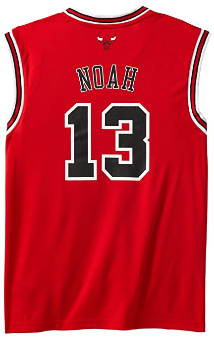 fbcc97e17 Amazon.com   NBA Chicago Bulls Red Replica Jersey Joakim Noah  13