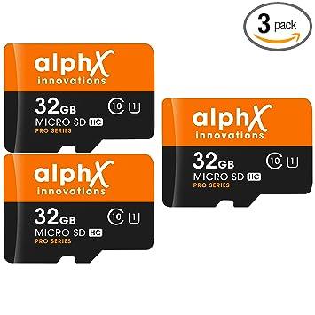Amazon.com: Paquete de 5 tarjetas de memoria AlphX 32gb [3 ...