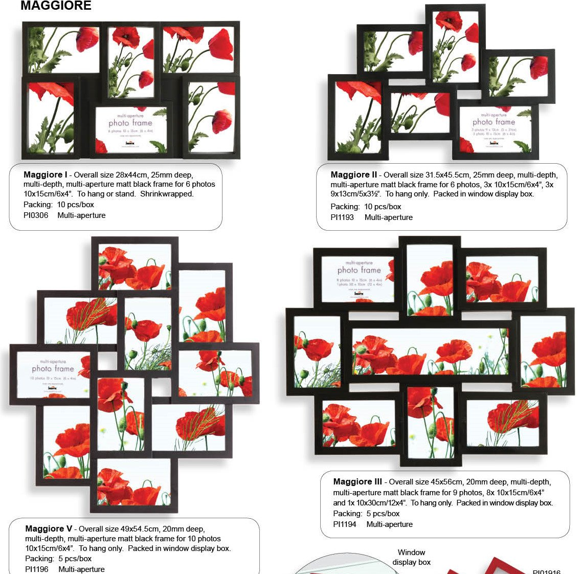 Amazon.de: Fotorahmen Collage Schwarz-6 Fotos 10x15 und 9x13 cm ...