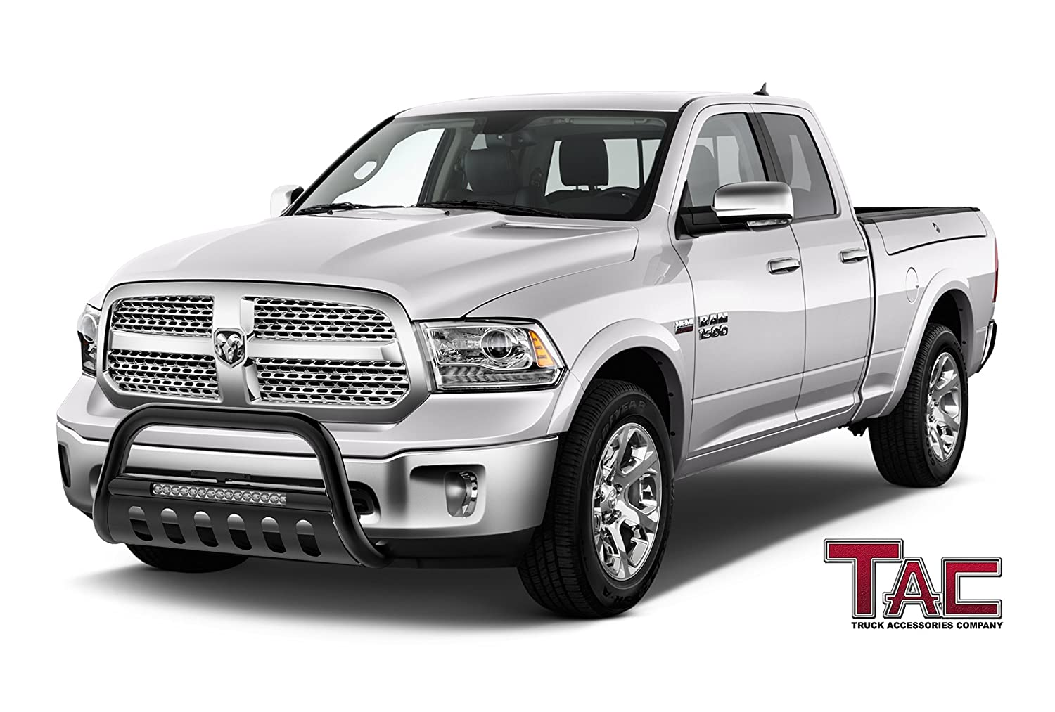 Tac Led Lighting Bull Bar For 2009 2018 Dodge Ram 1500 1980 F150 Ford Truck Brush Guards Excl Rebel Modelwill Interfere W Sensors If Equipped Pickup 3 Inches Black