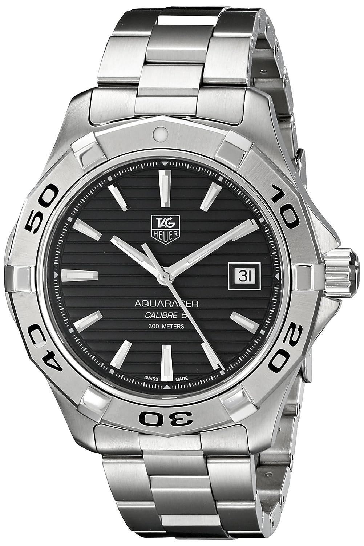 sale retailer ac2de 26d9f TAG Heuer Men's WAP2010.BA0830 Aquaracer Calibre 5 Automatic Black Dial  Watch