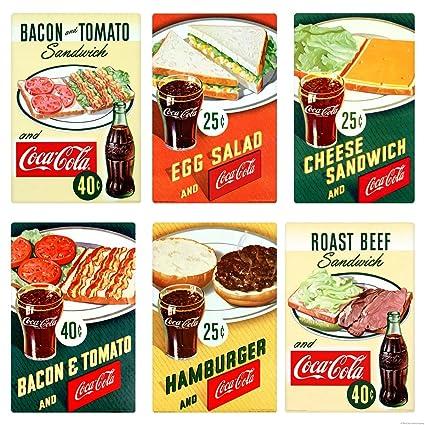 Amazon com: Retro Planet Coca-Cola 1950s Diner Food Burger Sandwich