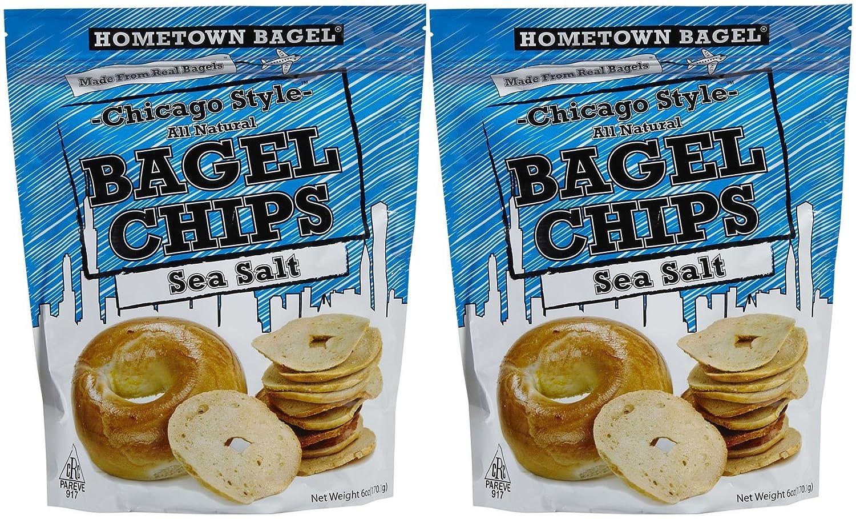 Hometown Bagel Sea Salt All Natural Bagel Chips, 6 oz, 2 pk