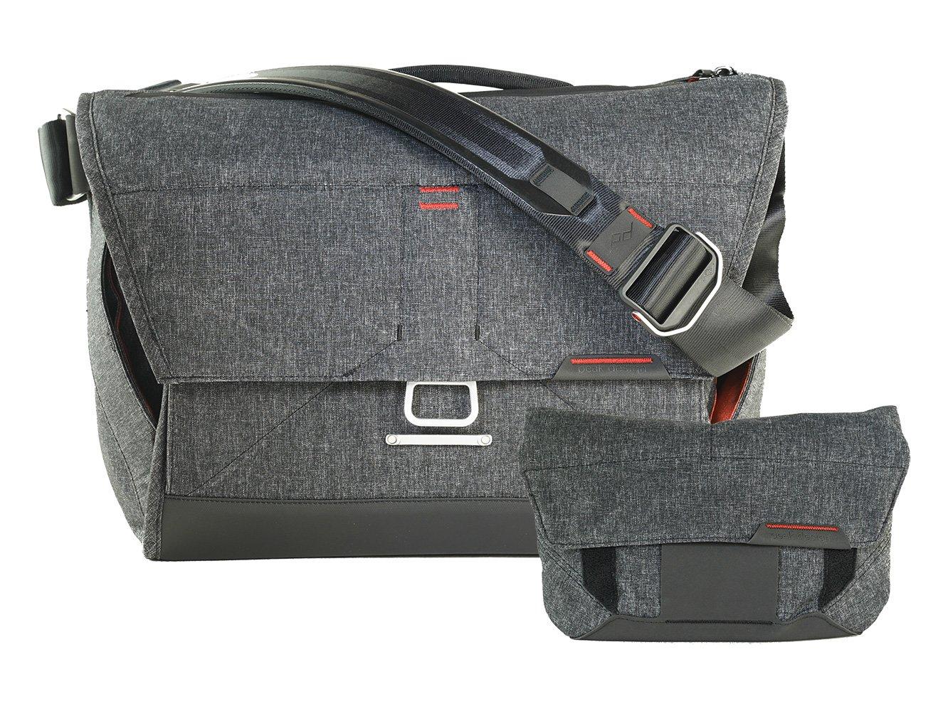 Peak Design 15'' Messenger Bag and Field Pouch (Version 1 - Pre-Bundled Combo - Charcoal)