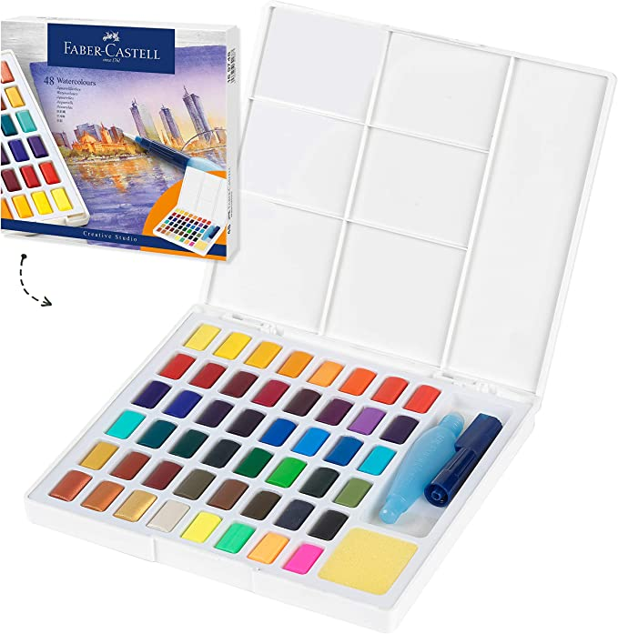 Multi w36 Faber-Castell FC169736 Watercolors in Pans 36ct Arts and Crafts