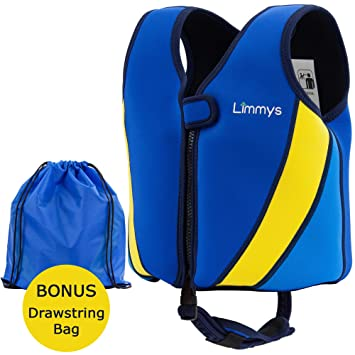 Chaleco de Natación de Neopreno de la Marca Limmys Premium para Niños, Flotador para el