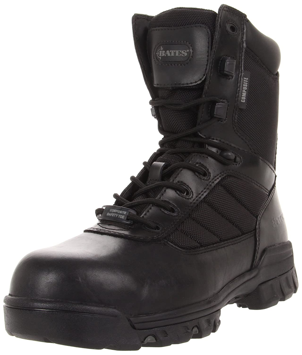 Schwarz Bates Mens Tactical Sport 8 inch Safety Toe Leather Stiefel