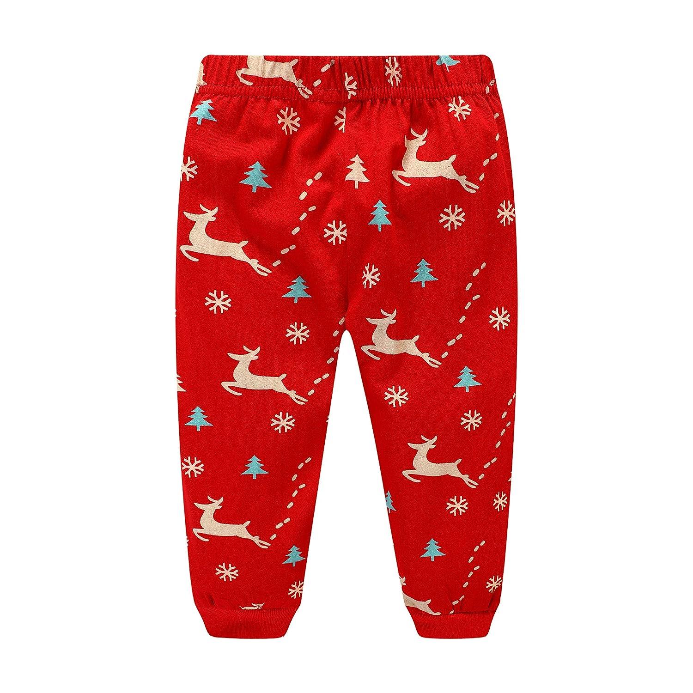 Navidad niños niñas Pijamas Set Santa Claus Sleepwear Manga Larga Traje Dos Piezas Conjunto: Amazon.es: Ropa y accesorios