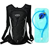 """Hydration Backpacks with 2 L Backpack Water Bladder for Hiking, Cycling, Running, Walking and Climbing . Fits Men and Women with Chest Sizes 27"""" - 50"""" by KISTAR"""