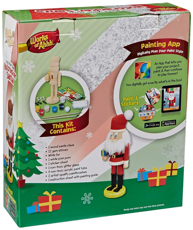 Amazon MasterPieces Works Of Ahhh Nutcracker Santa Large Wood Paint Kit Toys Games