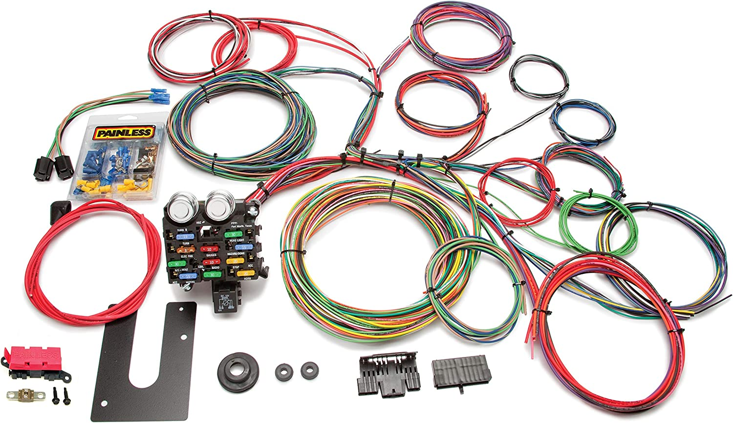 [ZSVE_7041]  Amazon.com: Painless Performance 10102 Classic Customizable Chassis Harness,  Key in Dash, 21 Circuits: Automotive | 1984 Camaro Painless Wiring Harness |  | Amazon.com
