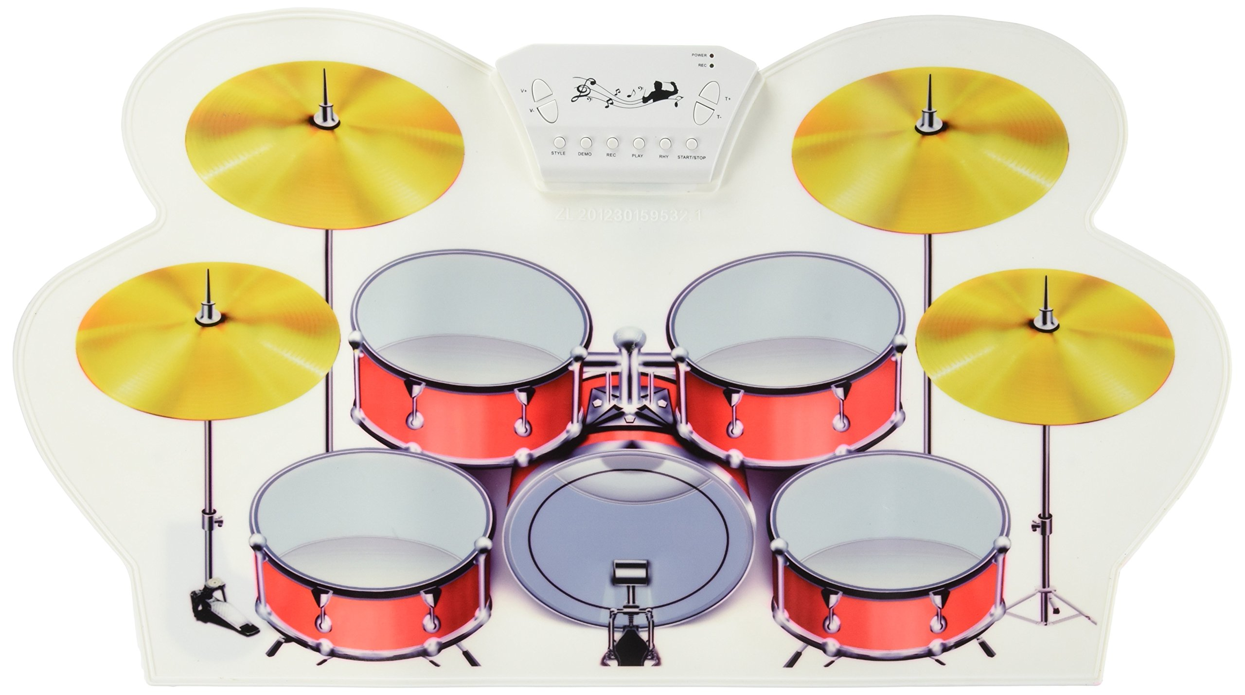 Rockland MD10081 Portable USB MIDI Electronic Drum Kit with software by Rockland