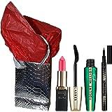 Coffret cadeau noel L'OREAL - mascara FELINE + eye liner superliner noir + rouge levres color riche au choix + boite + papier soie