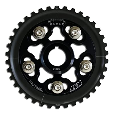 AEM 23-800BK Black Tru-Time Adjustable Cam Gear: Automotive