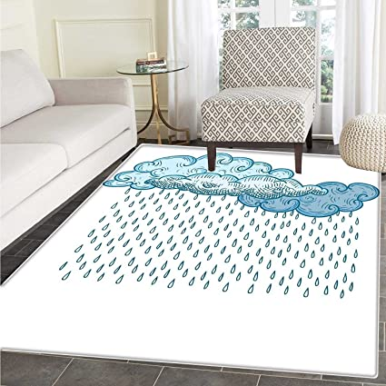 Stupendous Amazon Com Rain Rug Kid Carpet Abstract Funk Style Cute Ibusinesslaw Wood Chair Design Ideas Ibusinesslaworg
