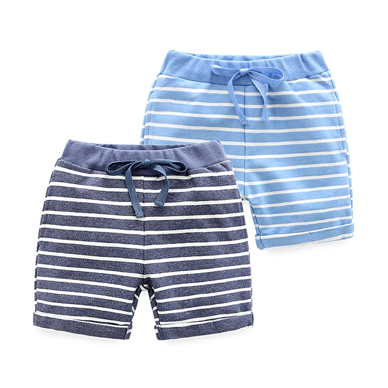 HUAER& Baby Boy's Summer Shorts 2 Pack
