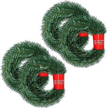 5m Girlande Weihnachtsgirlande Tannengirlande Türgirlande Weihnachtsdeko Grün