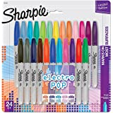 Sharpie Fine Electro Pop Marker, Fine Point, Assorted, 24/Pack (1927350)