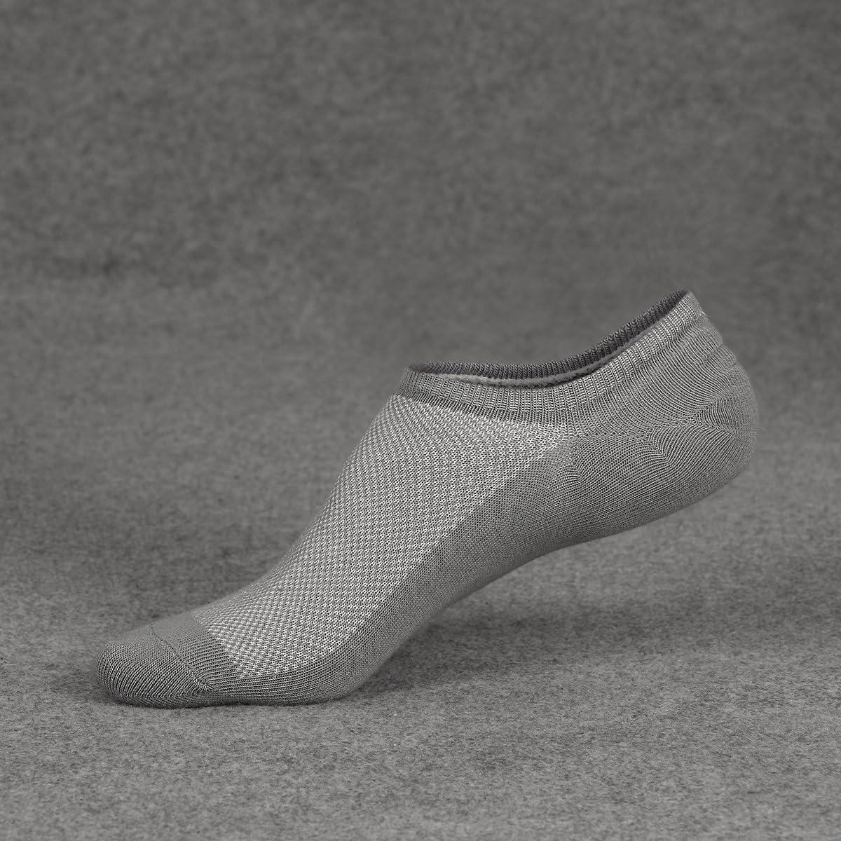 Ueither Calzini Uomo in cotone Taglio Basso Invisibili Casuale alla Caviglia Antiscivolo