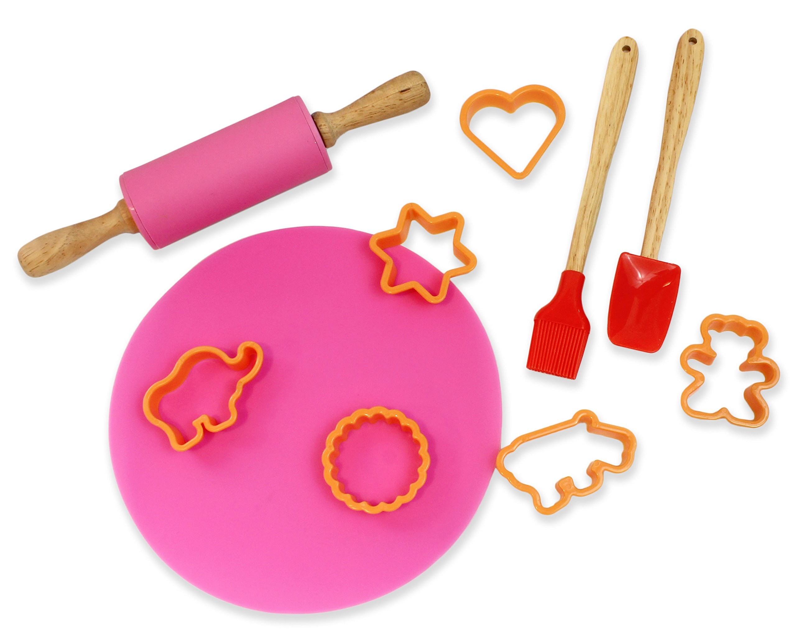 Children's Deluxe Pastry Baking Cookware Set for Kids (Cookie Set) Color May Vary