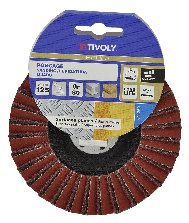 Tivoly XT10112011360 Disque /à lamelles combin/ées Marron Vert 125 cm