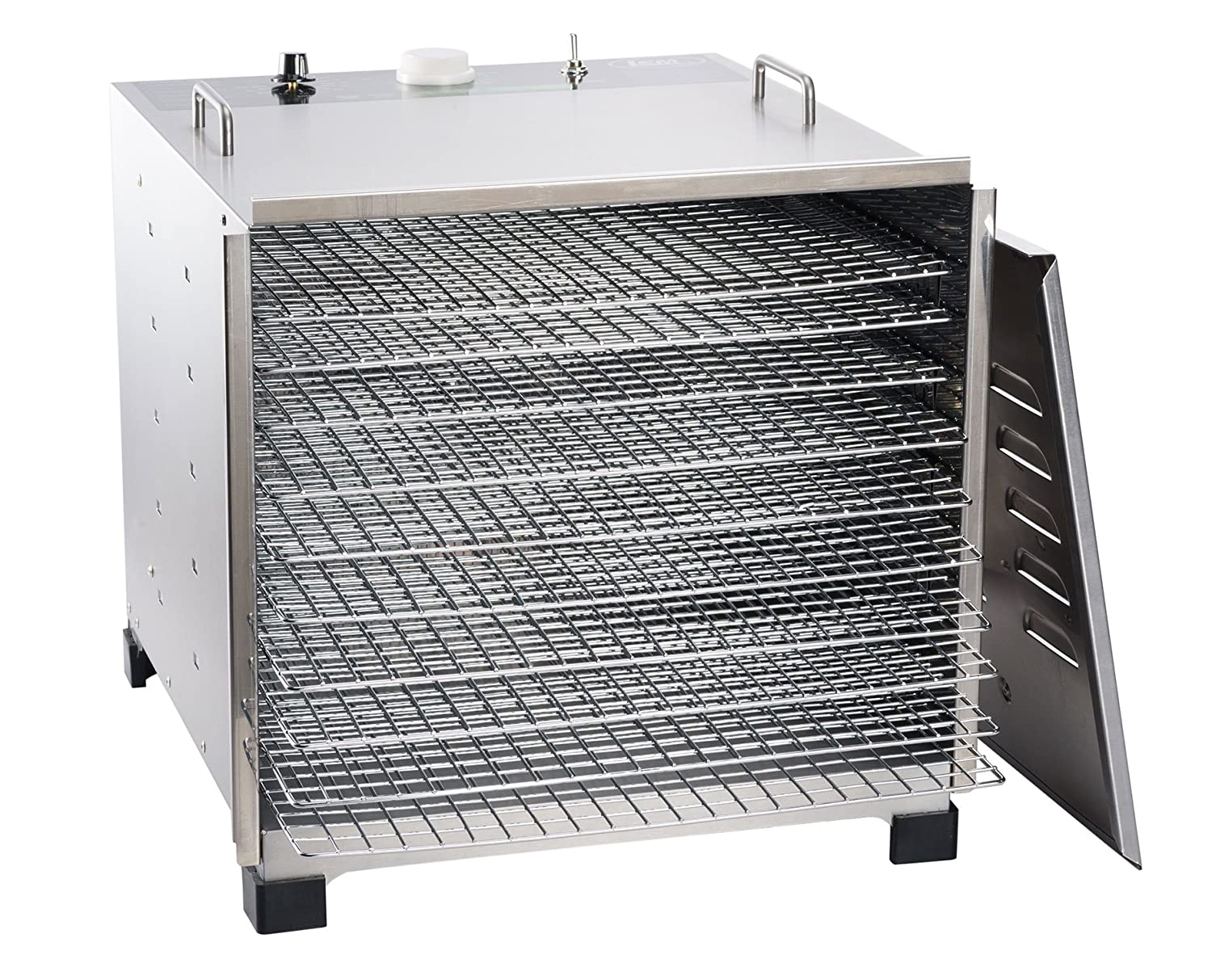 LEM Products 778A Stainless Steel 10 Tray Dehydrator w/Timer