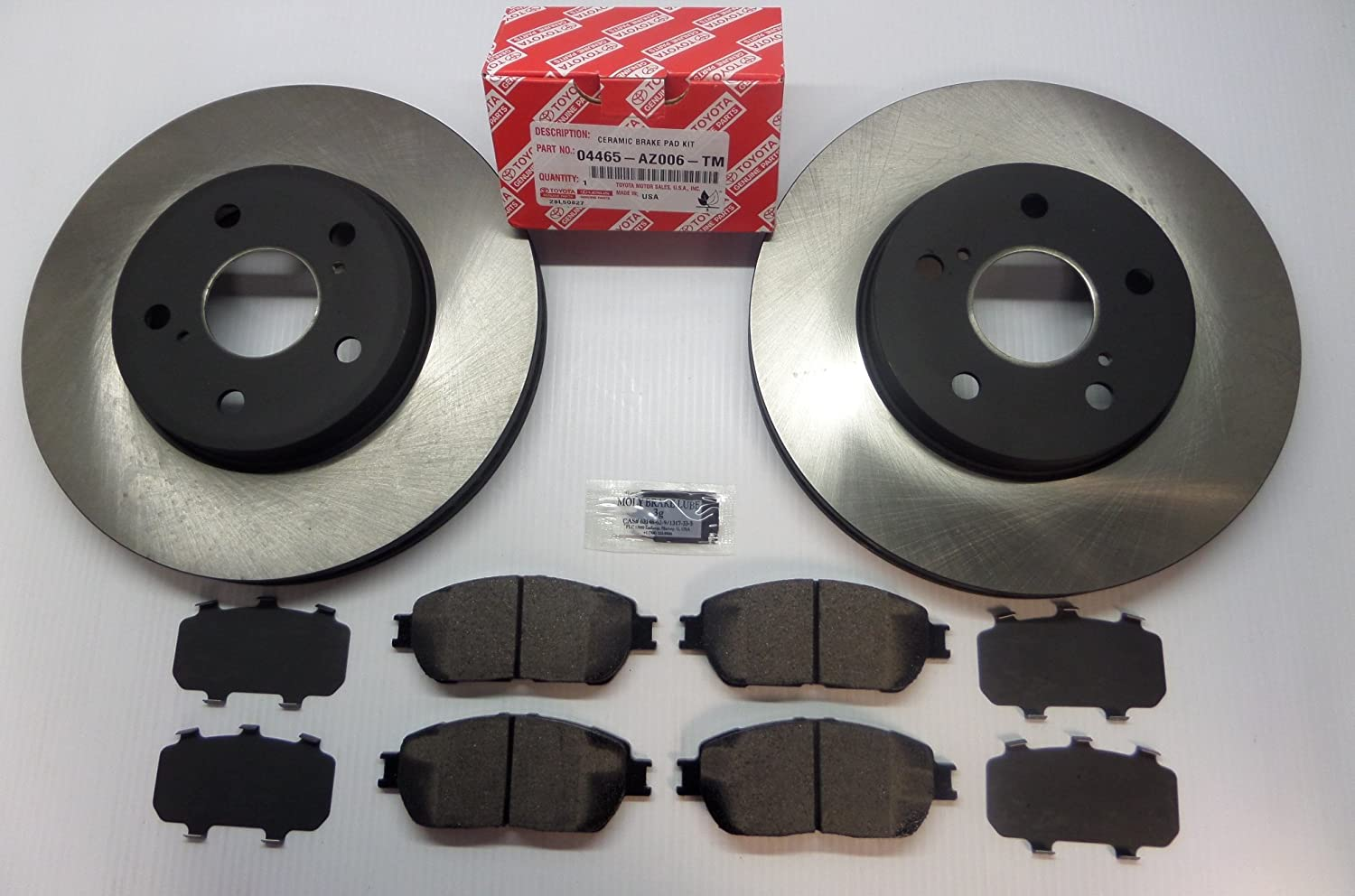 08 09 10 Fit Toyota Sienna See Desc. OE Replacement Rotors w//Ceramic Pads F+R