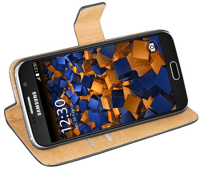 mumbi Ledertasche im Bookstyle für Samsung Galaxy S6 / S6 Duos Tasche