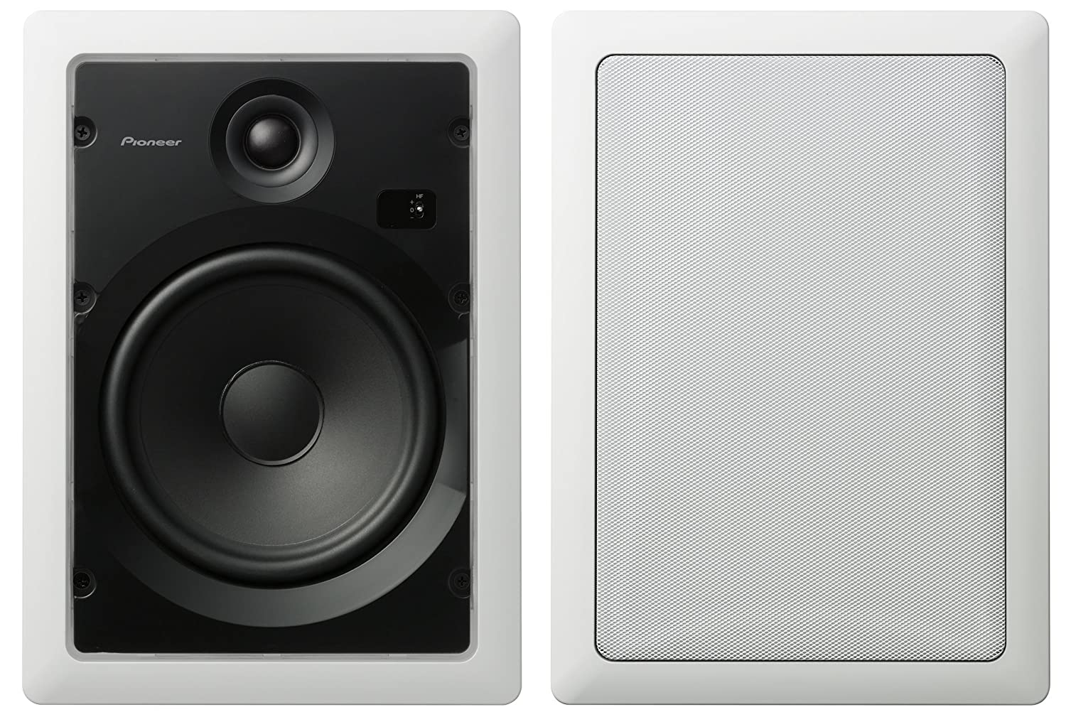 Pioneer S-IW831-LR Custom Series 8-Inch Rectangular in-Wall Speakers (Pair)