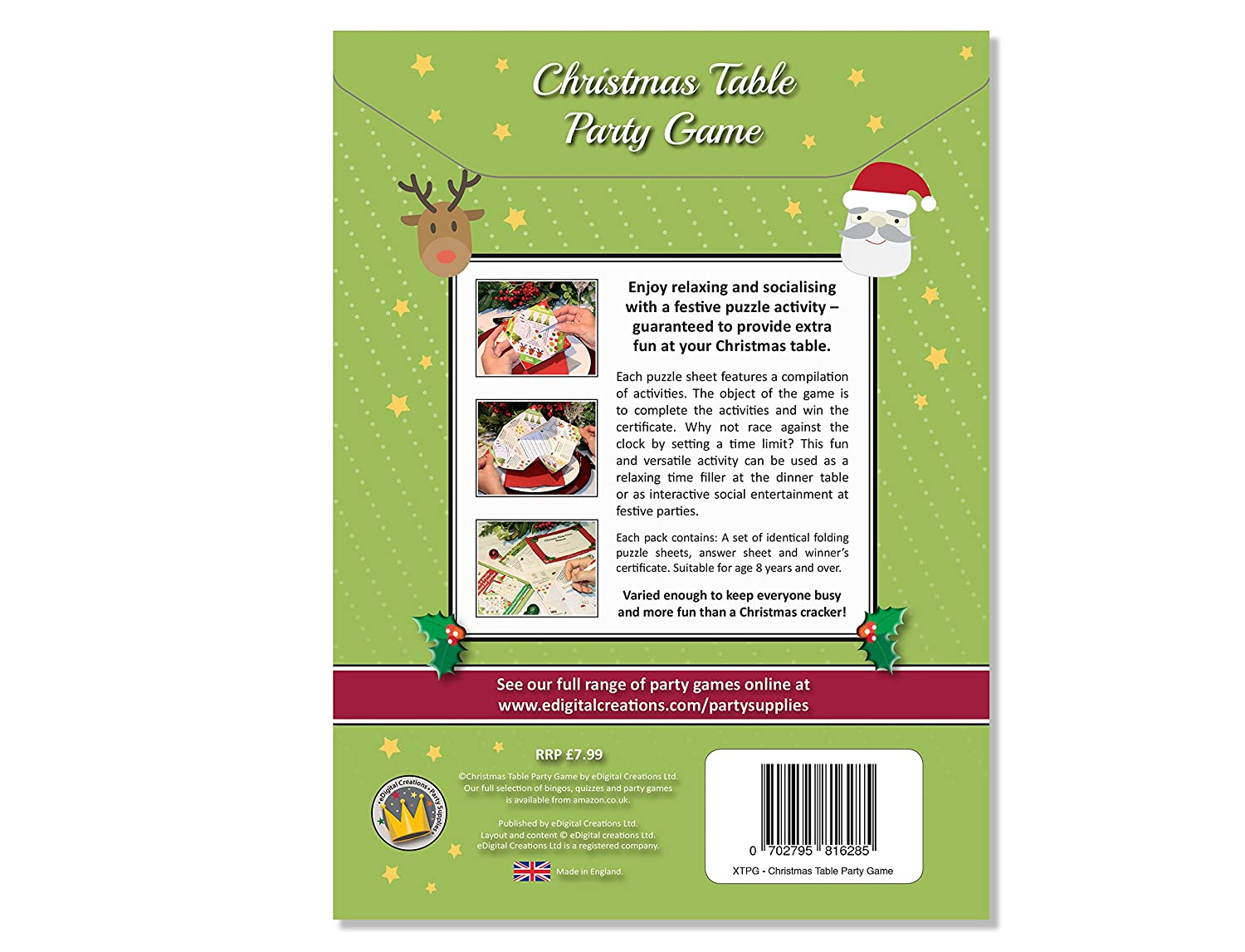 christmas table party games fun quiz trivia puzzle entertainment for families groups - Christmas Office Party Games