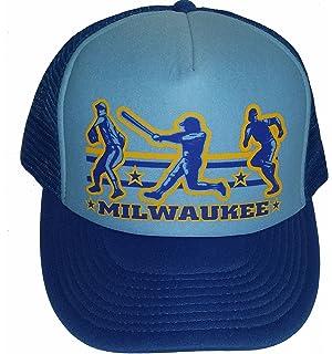 8028990870140 Amazon.com  Milwaukee Baseball Mesh Snapback Trucker Hat Cap  Clothing