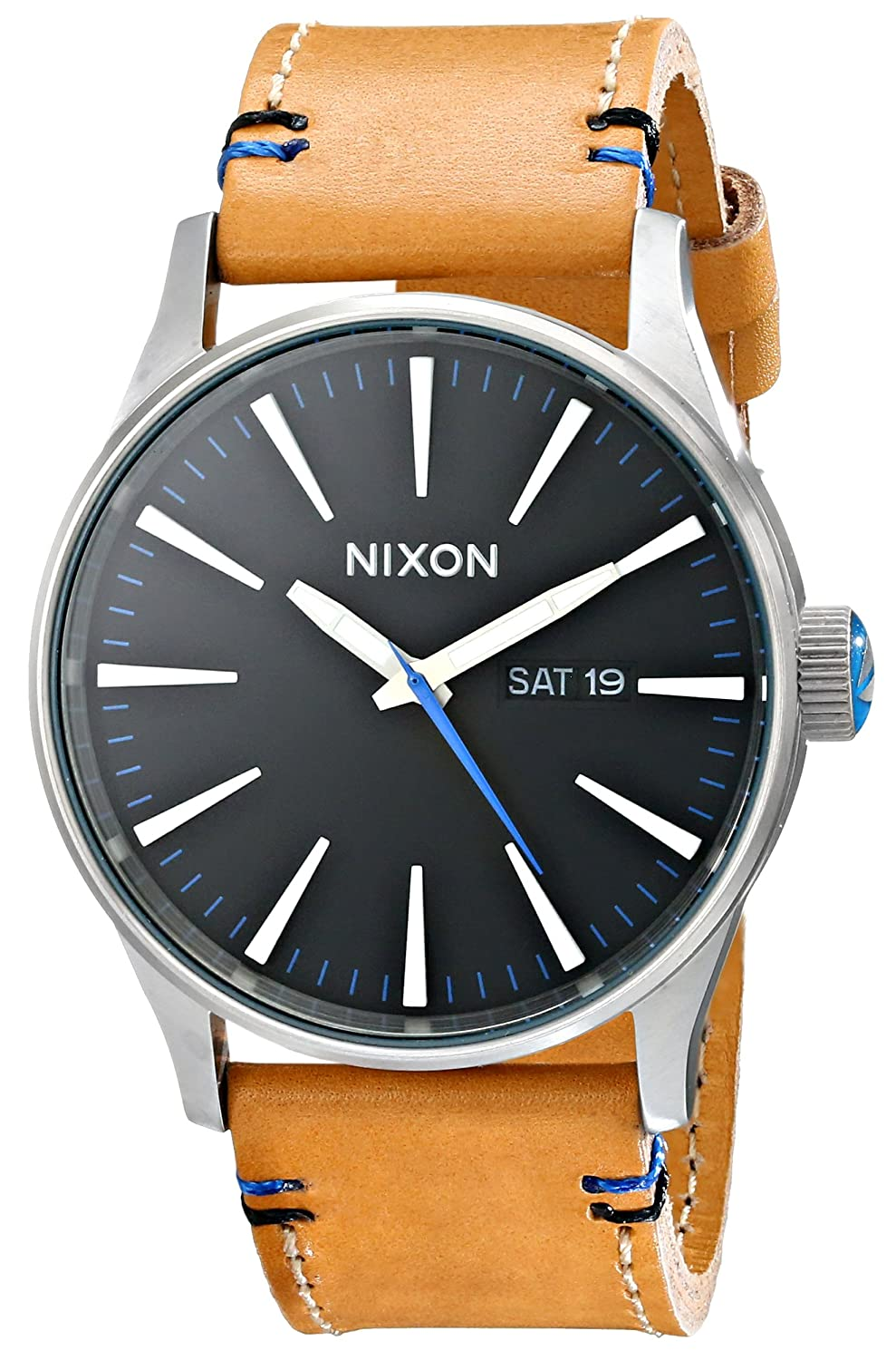 amazon com nixon sentry leather watch nixon watches